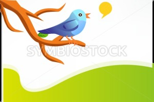 Blue Bird On a Branch Illustration - Symbiostock Express Demo