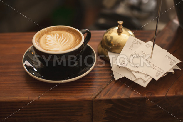 Gourmet Coffee on a Wooden Table - Symbiostock Express Demo