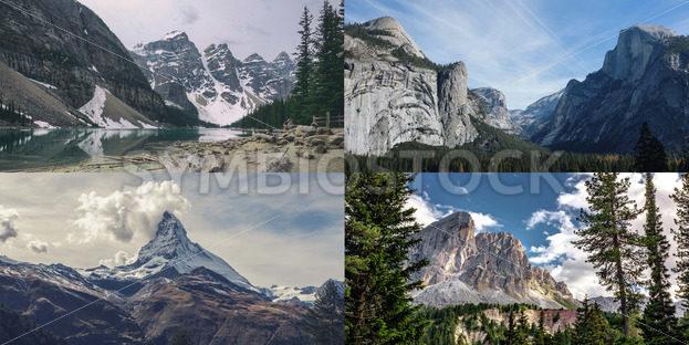 Beautiful Mountains – 4 Pack Bundle - Symbiostock Express Demo